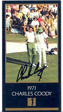 "AUTOGRAPHED COLOR CARD 1993 2.5"" X 4.75"" PGA PRO GOLFER CHARLES COODY"