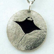 Manta Ray Pendant, Hand Crafted Sterling Silver Scuba Diving jewelry