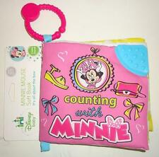Disney Baby COUNTING with MINNIE MOUSE Crinkle Baby Book w/ Link NWT TY60049