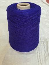 500 Gram Cone 90% Wool 10% Nylon 3/9Nm Weaving Twist/knit.3-4ply. Royal Blue.