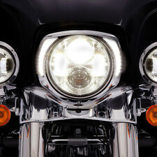 Ciro Chrome LED Headlight Bezel for Harley - 45200