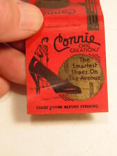 Vintage advertising matchbook: Connie Chic Creations shoes/ York, PA