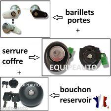 SET SERRURES COFFRE POUSSOIR + PORTES AVANT + BOUCHON RESERVOIR RENAULT TWINGO 1