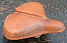 Antique Leather Hunt SADDLE Vintage TOC Wood Wheel Safety Bicycle Bike Seat