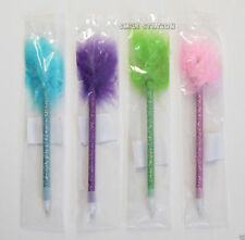 12 Fuzzy Feather Pens Kid Princess Party Goody Loot Gift Bag Filler Favor Supply