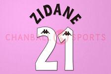 Zidane #21 1997-1998 Juventus Homekit Nameset Printing