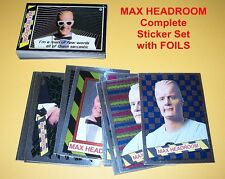 MAX HEADROOM Complete Sticker Set with FOILS