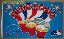3'x5' BEER PONG FLAG FRATERNITY COLLEGE PARTY GAMES DRINKS OUTDOOR INDOOR 3X5