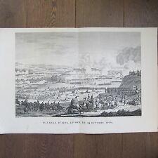 GRAVURE 1850 PAR VERNET NAPOLÉON 1806 BATAILLE D'IENA
