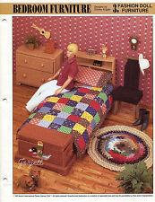 Bedroom Furniture, Annie's plastic canvas patterns fit Barbie fashion dolls
