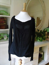 ALL SAINTS BLACK UNUSUAL ATHOS CARDIGAN TOP FIT XS S M COTTON CASHMERE