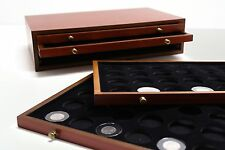 COIN CHEST w/ 4 DRAWERS HOLDS 72 AIRTITE CAPS FOR PRESIDENTIAL/PEACE/MORGAN COIN