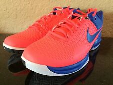 Nike Men's Air Max CageTennis Shoes Red Lava-Blue NY 2014