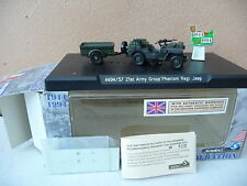 "SOLIDO  1/43  JEEP WILLYS  militaire avec remorque du Group "" Phantom """