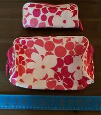 Pink And White Clinque Makeup Bag