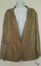 NWOT Style & Co Woman gold shimmer blazer holiday jacket size 2x Christmas