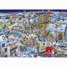 GIBSONS I LOVE CHRISTMAS 1000 PIECE MIKE JUPP CARTOONIST JIGSAW PUZZLE