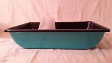 Large giant huge big cat litter box pan.  Designed for easy cleaning. Teal