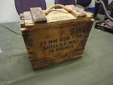 37mm AT gun T-32 Ammo Box for shell H.E. M63 - M4 M4A1 - USGI Military