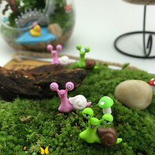 1X Miniature Snail Fairy Garden Dollhouse Bonsai Figurine Decor Ornament