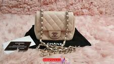 Read Listing/ 2014 CHANEL Light Pink 2.55 Mini Caviar Flap Bag Silver HW