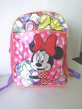 "GIRLS DISNEY MINNIE MOUSE 16"" BACKPACK"