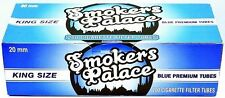 Smokers Palace Blue (Light) King Size Cigarette Filter Tubes-Lot of 5 Boxes