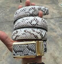 Baby White Genuine Python Snake Leather Skin Men's BELT #TOB28
