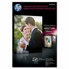 New HP Premium Plus Photo Paper  4 x 6'' Q1977A 20 Sheets Free Fast Shipping