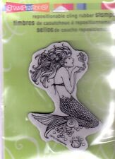 New Stampendous RUBBER STAMP cling Mermaid mystical sea  Free us ship
