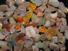 100 carat Ethiopian Welo Opal Rough Rainbow flash Lot avg piece is 4 to 12 carat