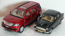 TOY & MODEL OF TOYOTA FORTUNE(RED)- & AMBASSADOR CAR(BLACK)- CENTY-KIDSTOYSHUB