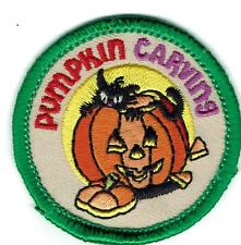 Boy Girl Cub PUMPKIN CARVING Patches Crest Badge SCOUT GUIDE Face Jack O Lantern