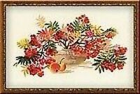 """Rowan Tree Cross Stitch Kit ( Riolis 1050) 21.75"""" x 13.75"""""""