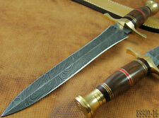 """15.4"""" Superb A Entirely Hand Made Damascus Knife Wood Dagger (89901-16-4100"""