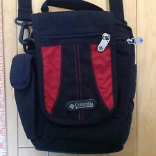 Columbia Shoulder Purse Messenger Bag Black & Red