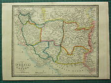 1872 JAMES WYLD MAP ~ PERSIA & CAUBUL ~ KERMA FARS KHORASA BALKH ~ HAND COLOURED