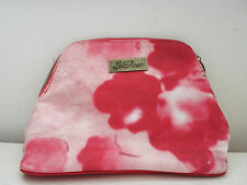 New Lela Rose for Beauty.com White Red & Pink Peony Floral Makeup Bag/Clutch