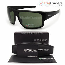 TAG HEUER RACER 2 SUNGLASSES BLACK POLARIZED GREEN RACING CYCLING 9223 304 70