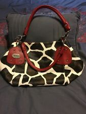D & G DOLCE AND GABANNA LARGE PURSE WITH ANIMAL PRINT SHOULDER BAG