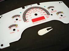 1996-2004 GMC Savana Safari Chevy Astro Express Glow Through White Face Gauges