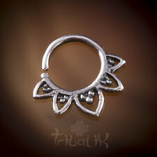 PRE-ORDER!! Silver Tragus Lotus Septum Ring, Conch Jewelry. Snug Ring (code 1)