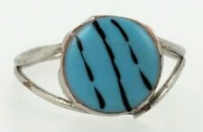 925 Sterling Silver plated turquoise ring size 7