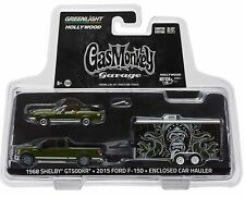 1:64 GreenLight *HITCH & TOW* GAS MONKEY GARAGE Ford F150 Enclosed Shelby GT500