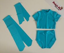 4 Pce Turquoise Lycra Dance Age 3-5 Briefs/Cropped Top Starter Beginner Practice