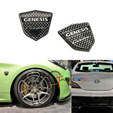 2PC High Quality Chrome Trunk Lid Badge Emblem Sticker For Hyundai GENESIS COUPE