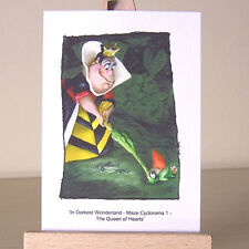 Queen of Hearts Alice in Wonderland Let the Game Begin croquet ACEO Art Card