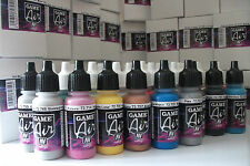 VALLEJO GAME AIR ACRYLIC AIRBRUSH PAINTS SET OF 51 x 17ml BOTTLES & CARRY CASE