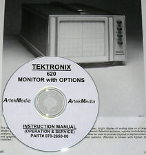 Tektronix 620 Monitor with Options Service & Ops Manual