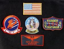TOP GUN MAVERICK PETE MITCHELL US NAVY NAME TAG VELCRO® BRAND FASTEN 5 PATCH SET
